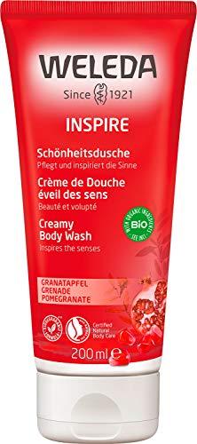 WELEDA Inspire Schönheitsdusche Granatapfel - pflegendes Naturkosmetik Bio Duschgel mit sinnlichem Duft nach Orange, Davana und Vanille zur Reinigung von Körper, Gesicht und...