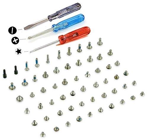 MMOBIEL Komplettes Schrauben Set Kit Ersatz kompatibel mit iPhone 5S / SE (Weiss/Schwarz/Gold) inkl Schraubenzieher