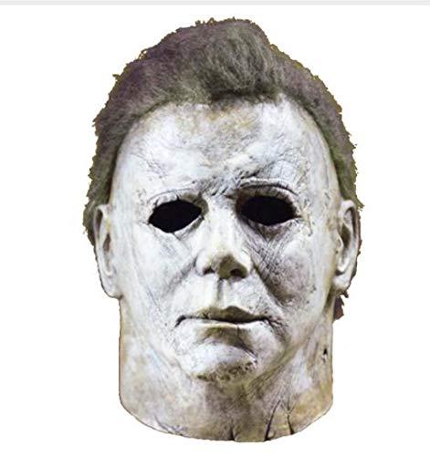 DDRBEVGHFdbvcd34bvvs0918d Michael Myers Máscara Halloween 2018 Película de Terror Cosplay Casco de látex para Adultos Cara Completa Fiesta de Halloween Accesorios de Miedo, como en la Imagen