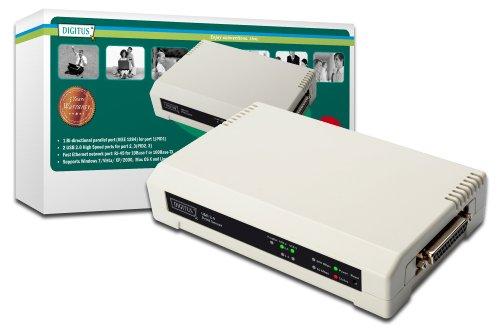 Digitus DN-13006-1 - Servidor de impresión (Ethernet LAN, IEEE 802.3, IEEE 802.3u, 10, 100 Mbit/s, TCP/IP, 230 V, 50 Hz)