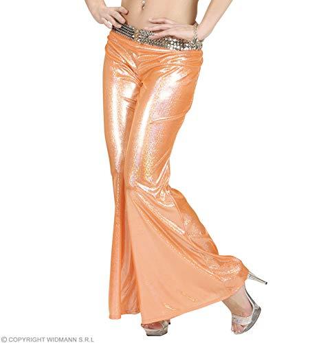 Generique - Pantalon Disco holographique Orange Femme