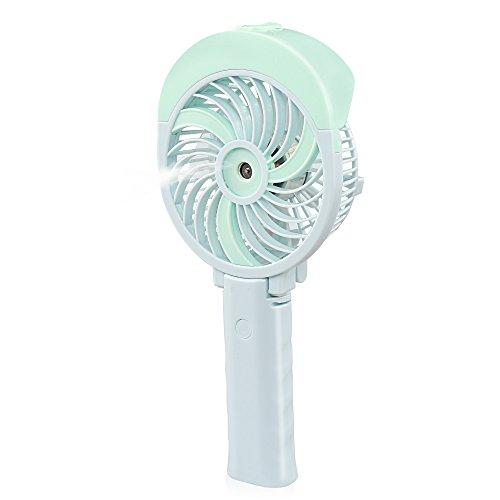 D-FantiX df-191Handheld Ventilador portátil con vaporizador de agua a pilas ventilador portátil Personal Ventilador para casa, oficina, dormitorio y viajes