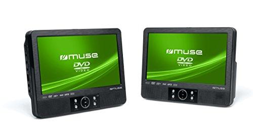 Muse M-995 CVB - Pack de 2 reproductores de DVD portátiles, negro