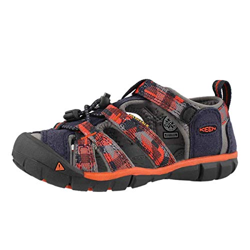 KEEN Unisex-Kid's Seacamp II CNX Sandal, Dress Blues/Spicy Orange, 11 M US Little Kid