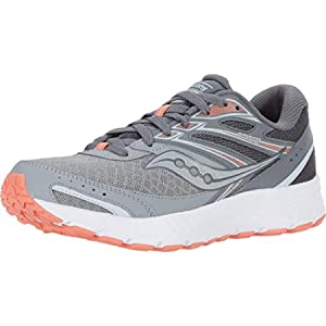 Saucony womens Cohesion 13 Running Shoe, Alloy/ Coral/ Sky, 7 US