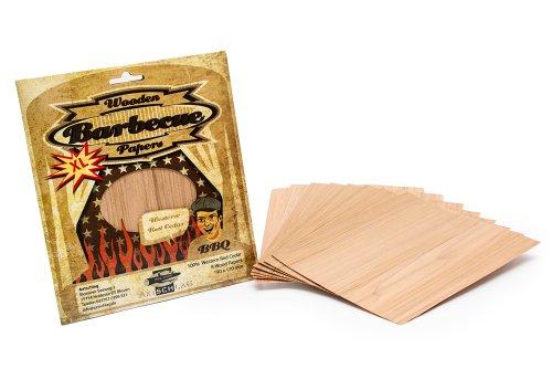 Axtschlag Cedro Rosso Occidentale woodpaper 8 STK. Cedar 19x17 cm Multicolore