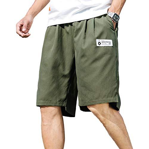 Pantalones Cortos Cargo de Tendencia para Hombre Moda Streetwear Relajado Cómodo Casual Simple Fitness al Aire Libre Pantalones Cortos Deportivos Verano 3XL