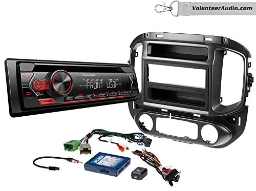 Pioneer DEH-S1200UB Single Din Radio Install Kit With CD Player, USB/AUX, Built-In 5 Band Equalizer Fits 2015-2017 Chevrolet Colorado, GMC Canyon