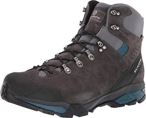 SCARPA Men's ZG Trek GTX Backpacking Boot - Titanium/Lake Blue - 10.5