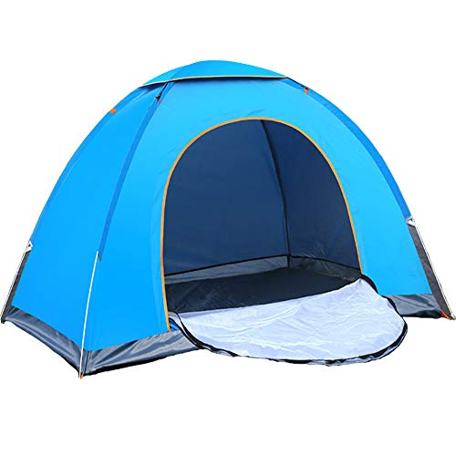 Automatic Pop Up Tent 3-4 Person Instant Backpacking Camping Tent Waterproof Windproof UV Protection for Outdoor Beach Traveling Hiking Camping Hunting Fishing Blue