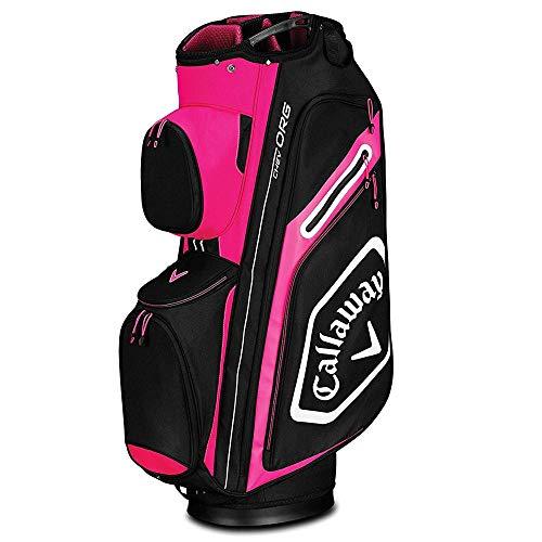 Callaway Golf 2019 Chev Org Cartbag, Unisex-Erwachsene, CART Bag, Pink/Weiß/Schwarz