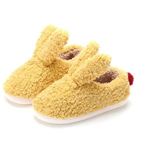 Zapatillas Casa Hombre Mujer Zapatillas De Felpa Cálidas De Invierno para Mujer, Zapatillas Bonitas, Zapatos De Mujer, Zapatillas De Interior para Mujer, Zapatos Planos para Mujer, 9,5 Amarillo