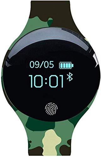 YXZQ Smart Armband, Sportuhr, Silikon Bluetooth Kinderuhr Camouflage Sport Schrittzähler Uhr Paar Geschenk Geeignet für die meisten Menschen