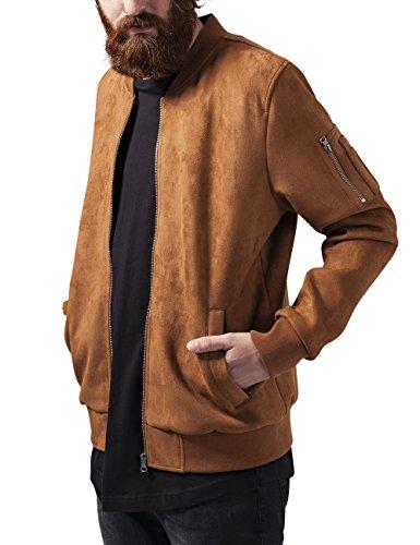 Urban Classics Herren Imitation Suede Bomber Jacket Jacke, Braun (toffee 786), Large
