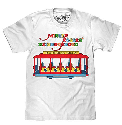 Mister Rogers Neighborhood Trolley Logo  Soft Touch Tee-x-large White
