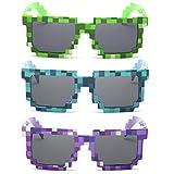 kilofly Bambina 3pc 8-Bit Pixel UV Protegge i favori di...