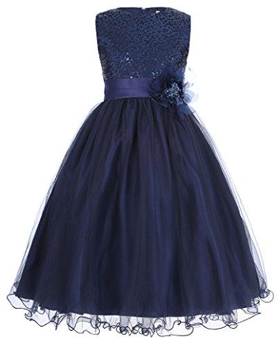 GRACE KARIN Maedchen Prinzessin Hochzeit Party Festzug Kleid Champagner ,9 jahre,  Marineblau