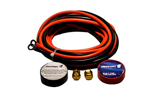 Newport Vessels Trolling Motor Battery Cable Extension Kit, 10-Feet