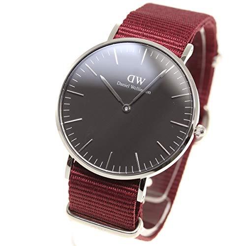 Daniel Wellington Unisex Erwachsene Analog Quarz Uhr mit Stoff Armband DW00100274