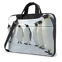 おもしろ ペンギン PCケース ノートパソコンバッグ ラップトップ 保護ケース PCバッグ 衝撃吸収 軽量 ビジネスバッグ ハンドルバッグ ブリーフケース 手提げバッグ 取っ手付き 斜め掛けバッグ 13/14/15.6インチ