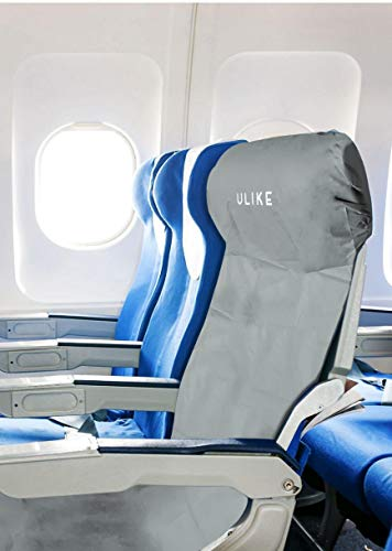 ULIKE 2 Disposable Airplane Seat Covers & 2 Pack Flushable Toilet Seat Covers (20 Count)