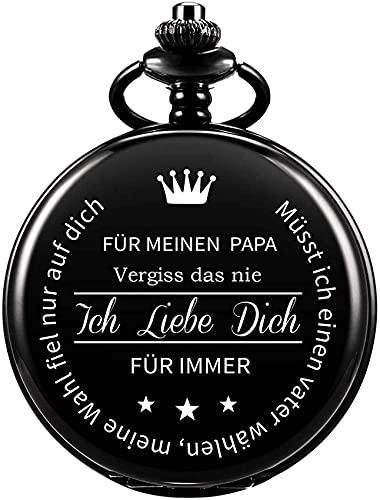 Reloj de bolsillo Regalo de papá al padre Reloj de bolsillo grabado Regalo de cumpleaños Día del padre personalizado - para mi papá.Nunca olvides eso.Te amo para siempre Navidad regalo de acción de