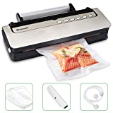 Vacuum Sealer Blusmart 80Kpa Automatic Food Sealer Machine for Food Saver and Preservation with Dry...