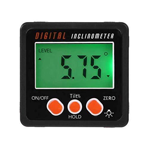 0-360° LCD Digital Protractor Inclinometer Gauge Level Angle Finder Inclinometer Magnet Base (Black...