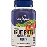 One A Day Men's Natural Fruit Bites Multivitamin with Immune Health Support*, 60 Count (1 month supply), Gluten Free Vitamins for Men with Vitamin A, Vitamin D, Vitamin E, B6, B12, Zinc & more