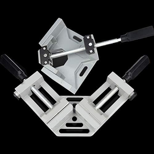 ECSWP HQQGGJ Asa de Aluminio Abrazaderas de 90 Grados para carpintería en ángulo Recto Abrazadera de ángulo de ángulo de Madera Marco de carpintería Clip TRANSUP