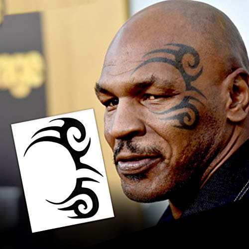 Mike Tyson Tribal Design Temporary Tattoos (2-Pack) | Skin Safe | MADE IN THE USA| Removable