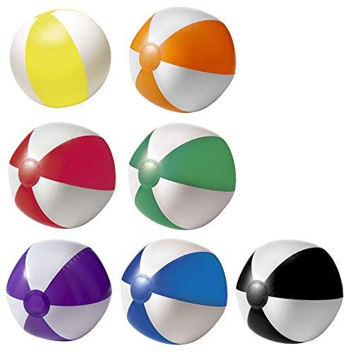 noTrash2003 Set aus 6 Aufblasbare Wasserbälle Strandbälle Beachball Urlaub Beach Strand Pool (Farbmix)