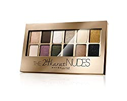Curated from backstage runways, our 24 karat nude palette has 12 perfectly complementary golden shades Specially formulated to work in 2s, 3s & 4s, & a mix of light to dark, matte to shimmer Maybelline shows you how to create infinite nude looks in o...