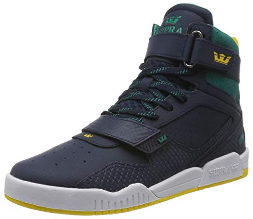 Supra Breaker, Zapatillas de Skateboard Unisex Adulto, Azul (Navy/Teal-White-M 470), 38 EU