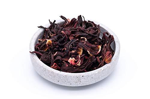 Fleurs d'hibiscus bio – 1kg – fleurs entières – idéales pour le thé aux fleurs d'hibiscus – séchées au soleil et naturelles – crues – d'Ouzbékistan