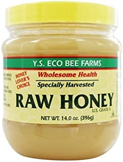 Raw Honey - Specially Harvested, U.S. Grade A - Delicious Pure Unprocessed, Unpasteurized - Kosher NET WT 14.0 Oz/396 gm.