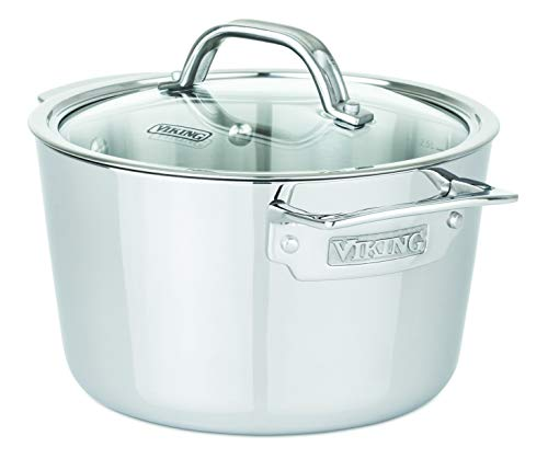 Viking Culinary Contemporary 3-Ply Stainless Steel Soup Pot Viking, 3.4 quart, Silver