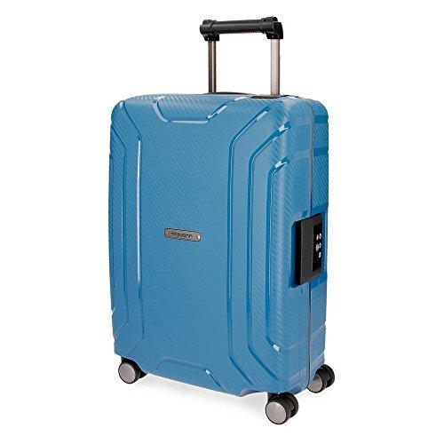 Movom Newport Maleta de cabina Azul 40x55x20 cms Rígida Polipropileno Cierre TSA 36L 3Kgs 4 Ruedas...