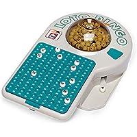 Chicos-Bingo Lotería electrónica con 24 cartones y 90 Bolas imborrables, 22.5 x 37 x 10.5 cm, Incluye fichas de Juego, (22302)