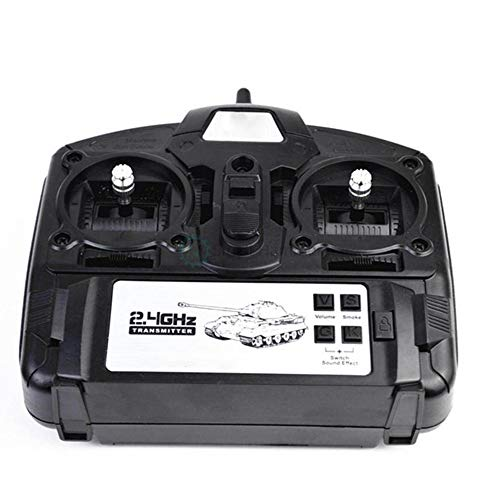 Aihifly Funksender 6.0 Funktion Mainboard + 2.4G Übermittler Fernsteuerungs Set for Heng Long 1/16 Rc Car Tank Model (Farbe : Schwarz, Größe : Einheitsgröße)