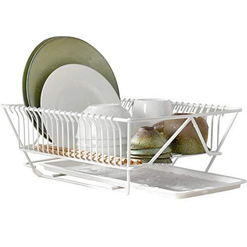 BCGT Drain Tableware Storage Basket Bowl Dish Plate Shelf Fruit And Vegetable Storage Basket Drying Bowl Drip Rack Kitchen Tableware Tableware Drain Rack (Color : White)