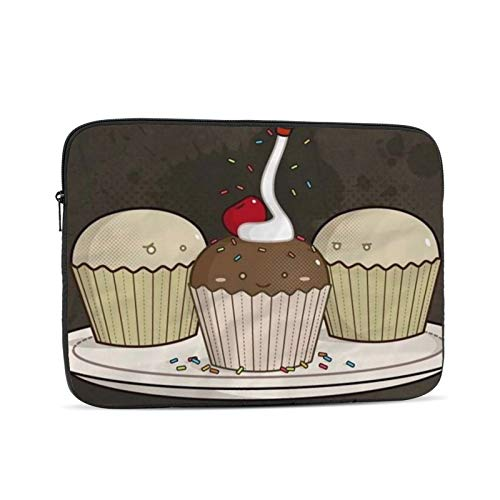 Cute Cake Laptop Sleeve 15 inch, Shock Resistant Notebook Briefcase, Computer Protective Bag, Tablet Carrying Case for MacBook Pro/MacBook Air/Asus/Dell/Lenovo/Hp/Samsung/Sony