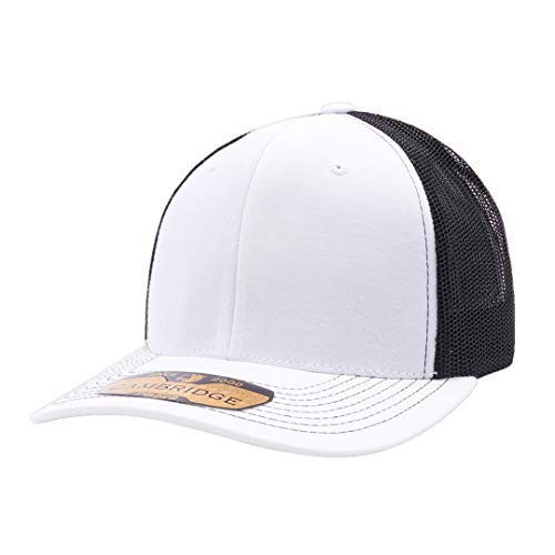 Pit Bull Cambridge PB222 Meshback Trucker Hat Cap White/Black