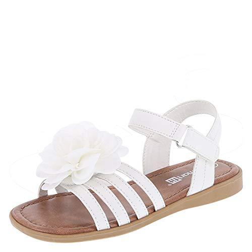 SmartFit White Girls' Melanie Flower Sandal 6 Regular