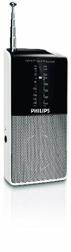 Philips AE1530 00 Radio portátil tamaño bolsillo (negro con plateado)