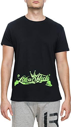 Línea Recta Camiseta Manga Corta Alien (Alien Verde Fluor, 9/11)