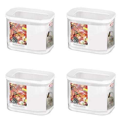 Mepal 106913030600 Modula Vorratsdose, Kunststoff, 1000 ml (4er Pack)
