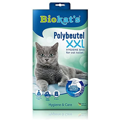 Biokat s XXL, bolsas desechables - Para colocar en el arenero para gatos - Cambio higiénico y sencillo de la arena para gatos, 12 unidades