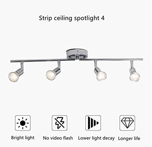 SLZ Rotary Led-plafondlamp, 4 lampen, voor de lunch, kleurtemperatuur 3000-6000 K voor keuken, woonkamer, slaapkamer, kledingladen, incl.
