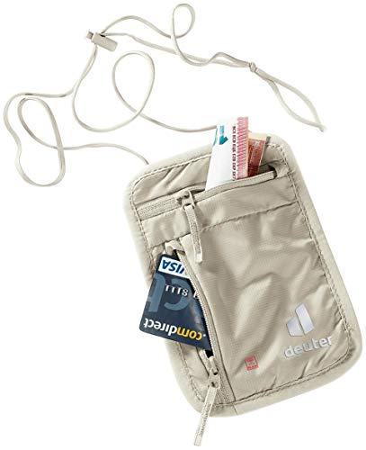 Deuter Security Wallet I RFID Block, Portadocumenti da Collo Unisex-Adulti, Sabbia, Taglia Unica